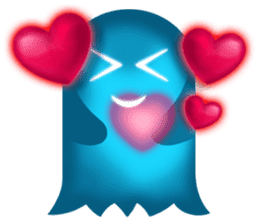 Cute Heart-Glowing Ghost stickers sticker #1809881