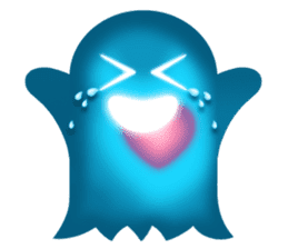 Cute Heart-Glowing Ghost stickers sticker #1809882