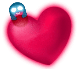 Cute Heart-Glowing Ghost stickers sticker #1809886