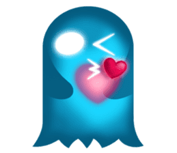 Cute Heart-Glowing Ghost stickers sticker #1809887