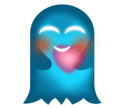 Cute Heart-Glowing Ghost stickers sticker #1809888