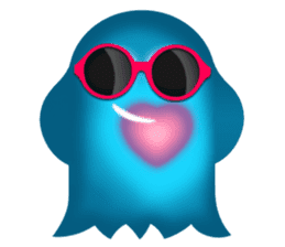 Cute Heart-Glowing Ghost stickers sticker #1809897