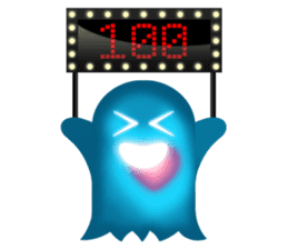 Cute Heart-Glowing Ghost stickers sticker #1809904