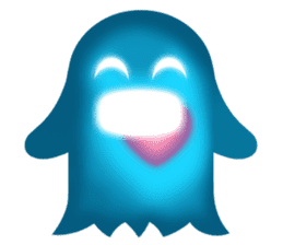 Cute Heart-Glowing Ghost stickers sticker #1809918