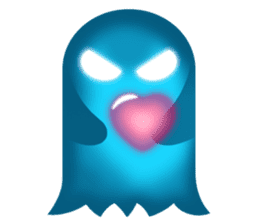 Cute Heart-Glowing Ghost stickers sticker #1809919