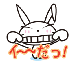 Angry Bunny sticker #2063392