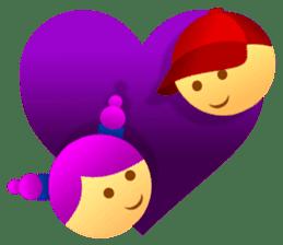 Cute Girl & Boy stickers sticker #2072817