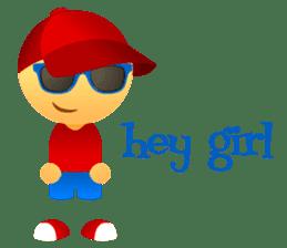 Cute Girl & Boy stickers sticker #2072824
