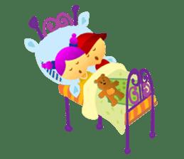Cute Girl & Boy stickers sticker #2072826