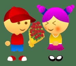 Cute Girl & Boy stickers sticker #2072835