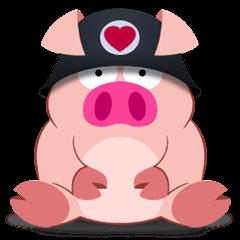 Cute Piggy Commando stickers