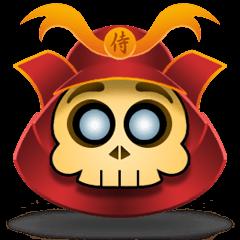 Cute Samurai Skull stickers