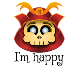 Cute Samurai Skull stickers sticker #3303858