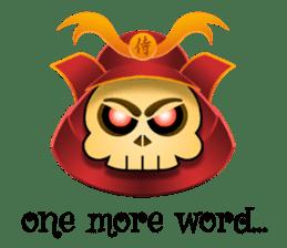 Cute Samurai Skull stickers sticker #3303863