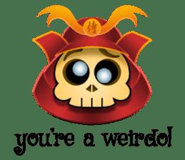 Cute Samurai Skull stickers sticker #3303869