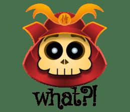 Cute Samurai Skull stickers sticker #3303870