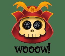 Cute Samurai Skull stickers sticker #3303871