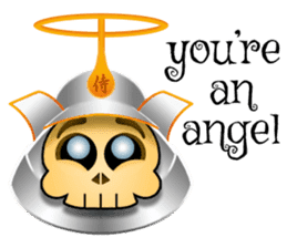 Cute Samurai Skull stickers sticker #3303874