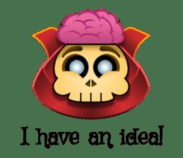 Cute Samurai Skull stickers sticker #3303879