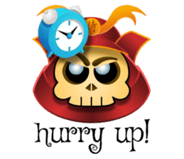 Cute Samurai Skull stickers sticker #3303886
