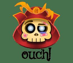 Cute Samurai Skull stickers sticker #3303887