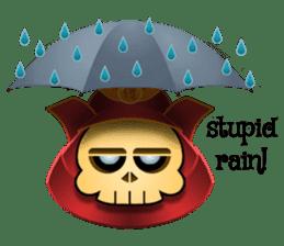 Cute Samurai Skull stickers sticker #3303893