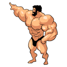 Super Muscle Man 2 sticker #4092329