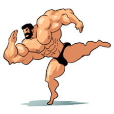 Super Muscle Man 2 sticker #4092330