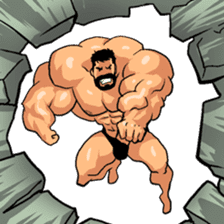 Super Muscle Man 2 sticker #4092341