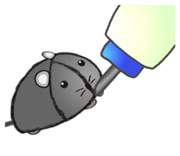 """I began the breeding of """"Mouse"""". sticker #4800385"""