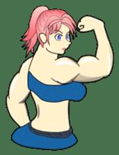 Beautiful Muscle Girl sticker #5932200