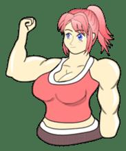 Beautiful Muscle Girl sticker #5932202