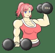 Beautiful Muscle Girl sticker #5932203