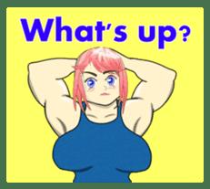 Beautiful Muscle Girl sticker #5932205