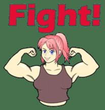 Beautiful Muscle Girl sticker #5932206