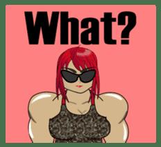 Beautiful Muscle Girl sticker #5932211
