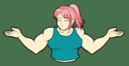 Beautiful Muscle Girl sticker #5932212