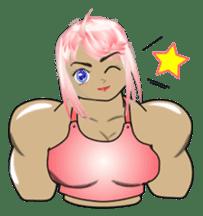 Beautiful Muscle Girl sticker #5932214