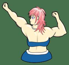 Beautiful Muscle Girl sticker #5932215