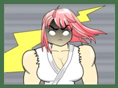 Beautiful Muscle Girl sticker #5932216