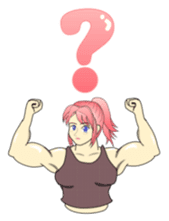 Beautiful Muscle Girl sticker #5932225