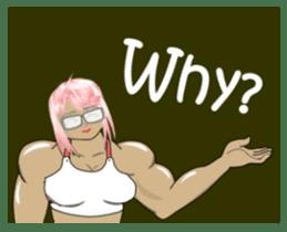 Beautiful Muscle Girl sticker #5932226