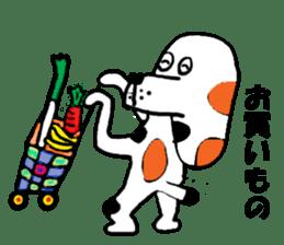 Of calico dog Santaro sticker #6002356