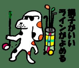 Of calico dog Santaro sticker #6002358