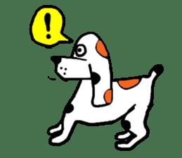 Of calico dog Santaro sticker #6002360