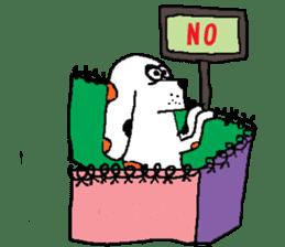 Of calico dog Santaro sticker #6002371