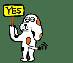 Of calico dog Santaro sticker #6002374