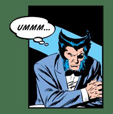X-MEN Wolverine sticker #20072