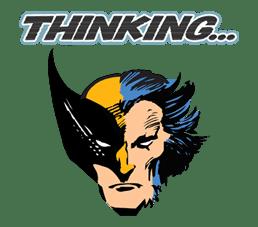 X-MEN Wolverine sticker #20091