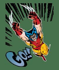 X-MEN Wolverine sticker #20098